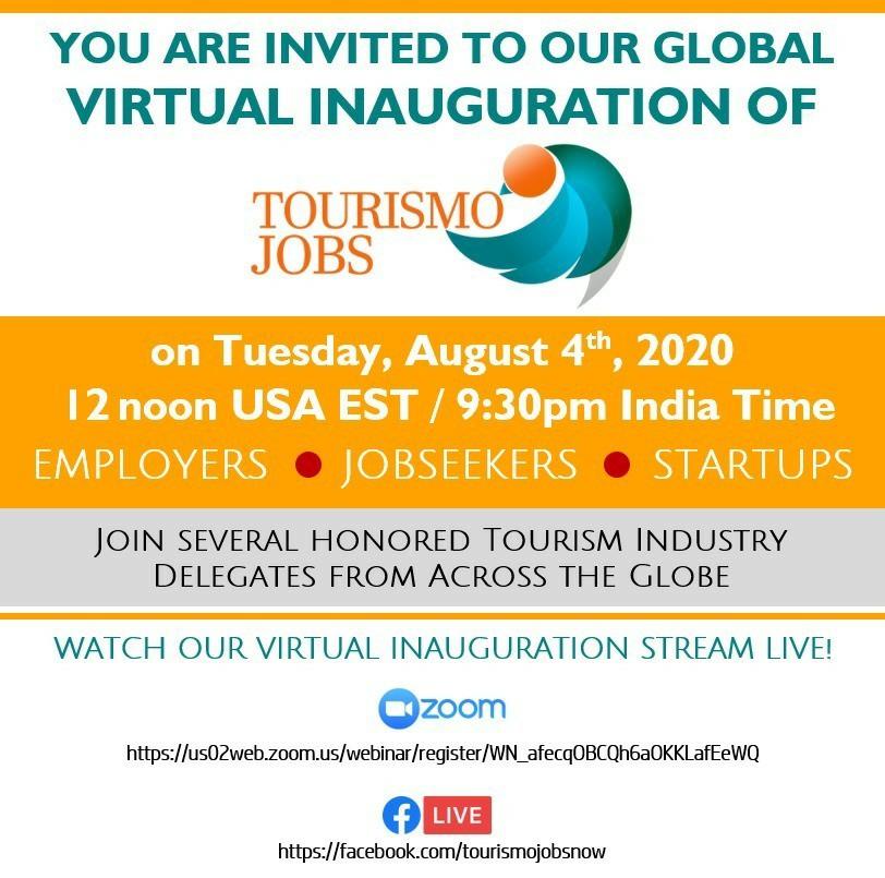 Join Tourismojobs.com inauguration webinar 04 aug, 2020